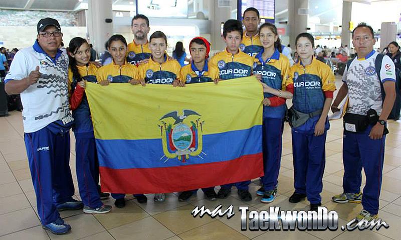 Equipo cadetes de taekwondo de Ecuador