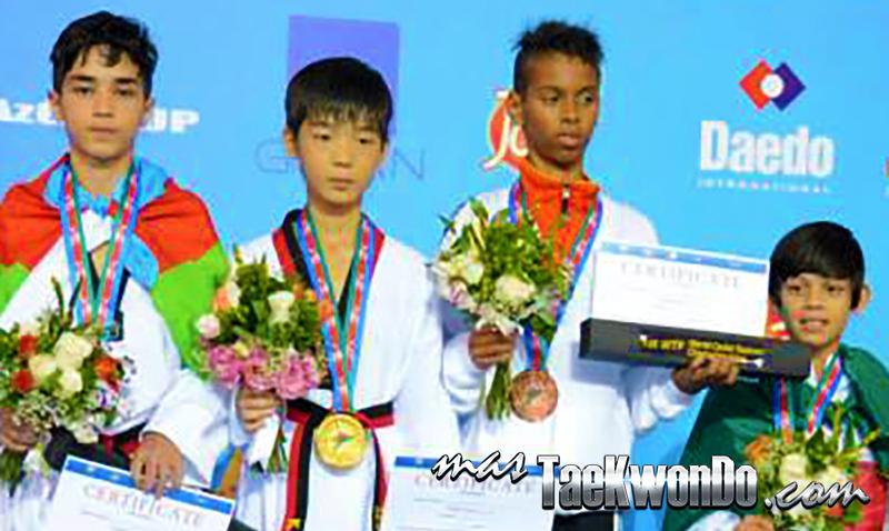 Mundial Cadetes, podio Masculino -33Kg