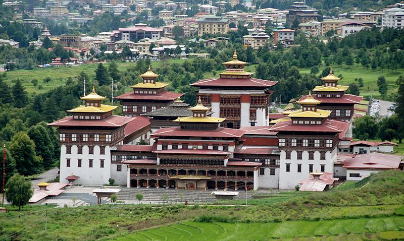 El monasterio budista Tashichoedzong