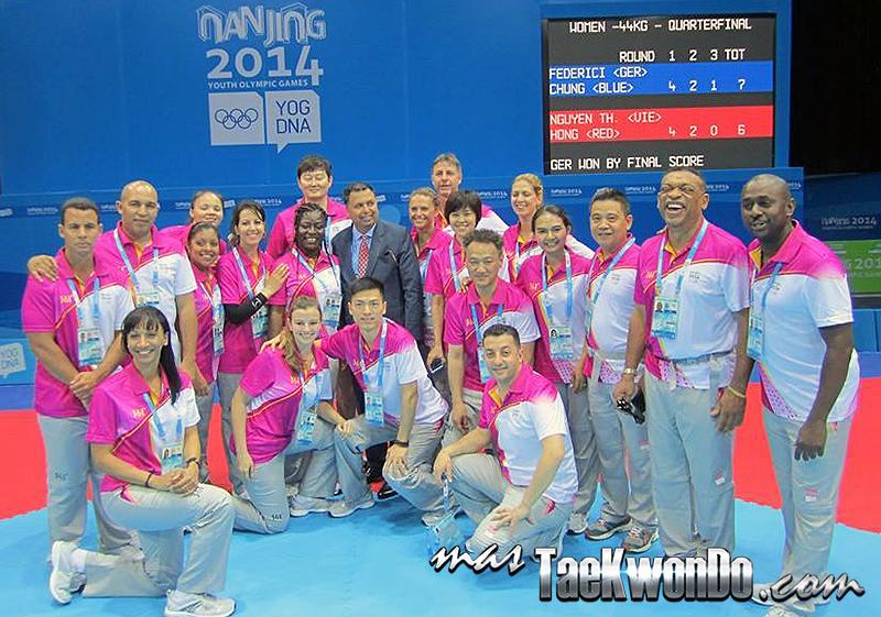 Referees Internacionales de Taekwondo en los Juegos Olimpicos Juveniles