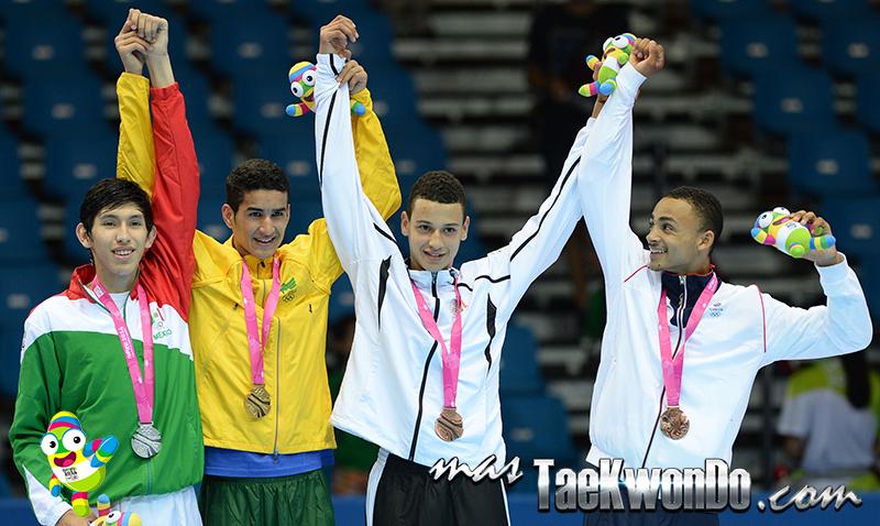 Podio Taekwondo Nanjing 2014 M-63 (19-08-14)