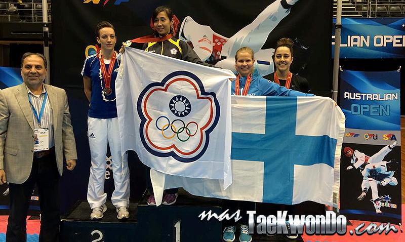 Podio F-53 del 5th Australian Taekwondo Open (G2)