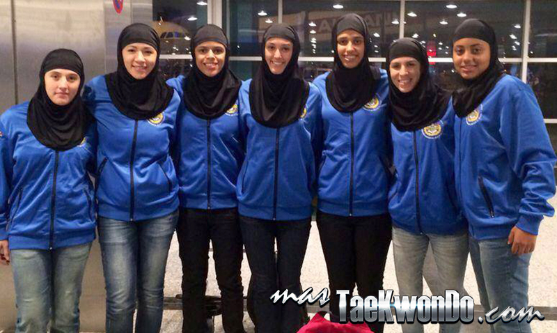 Taekwondistas brasileras con el Hiyab