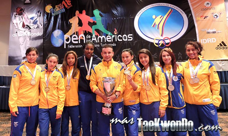 Seleccion Colombia Femenino, Campeon Open de las Americas