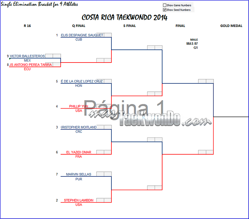 Costa Rica Open 2014, Grafica M+87