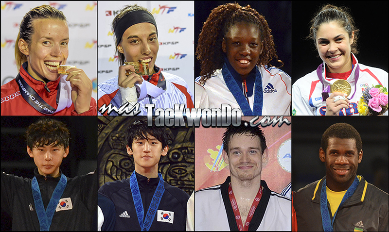 Números 1 – WTF World Olympic Ranking – Taekwondo WTF – Agosto 2014.