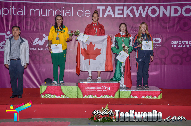 Podio Panamericano 2014, LIGHT Femenino -62 Kg.