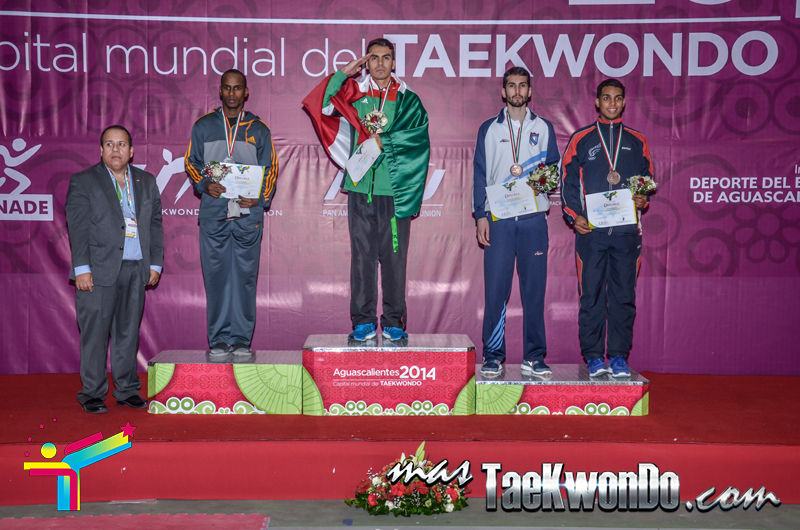 Podio Panamericano, LIGHT Masculino -74 Kg.