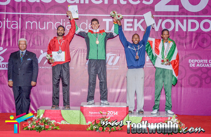 Podio Panamericano, FEATHER Masculino -68 Kg.