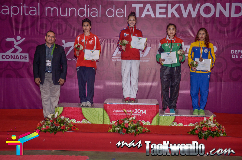 Podio Panamericano G4 D3,  BANTAM Femenino -53 Kg.