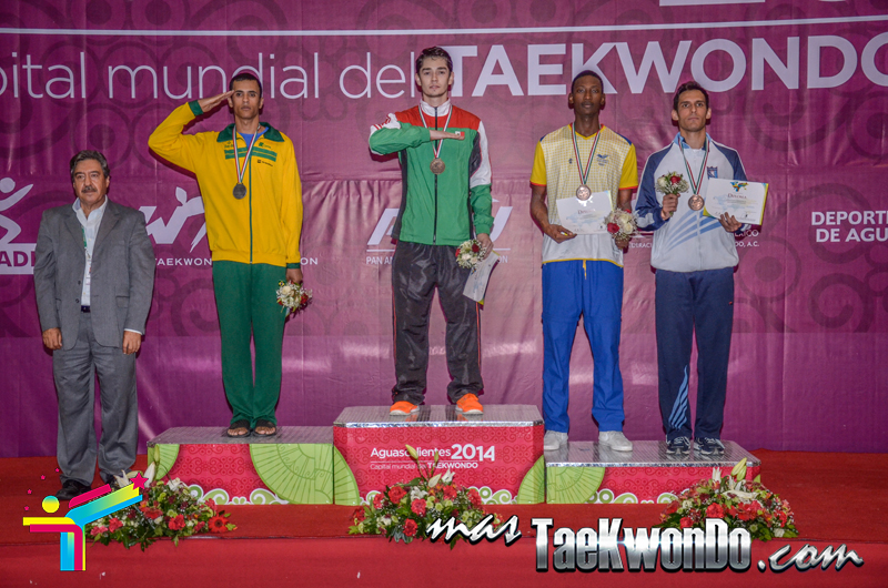 Podio Panamericano G4 D3, WELTER Masculino -80 Kg.