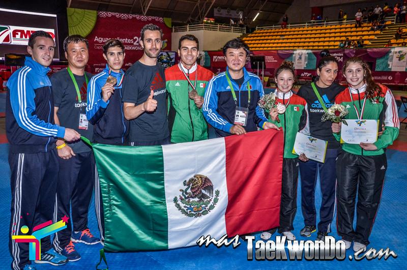 Panamericano 2014, MEX 2 oros primer dia