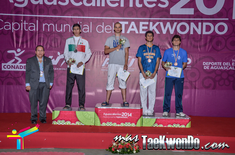 Podio Mexico Open G1, LIGHT Masculino -74 Kg.