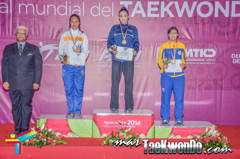 Podio Mexico Open G1, MIDDLE Femenino -73 Kg.
