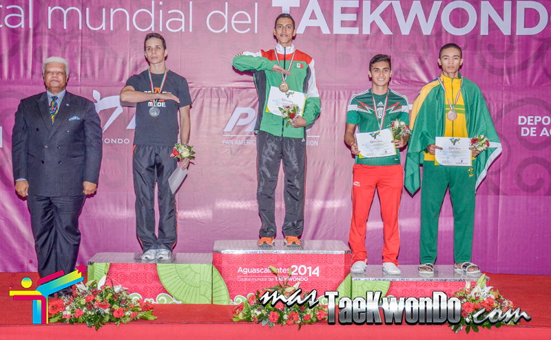 Podio Mexico Open G1, FLY Masculino -58 Kg.