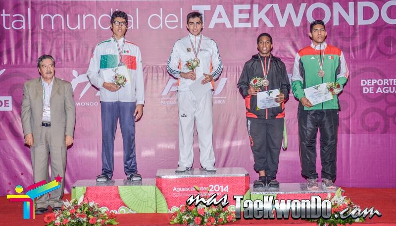 Podio Mexico Open G1, MIDDLE Masculino -87 Kg.