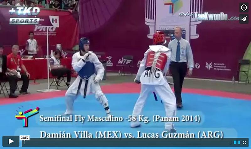 Damián Villa (MEX) vs. Lucas Guzmán (ARG), Semifinal M-58 Kg.
