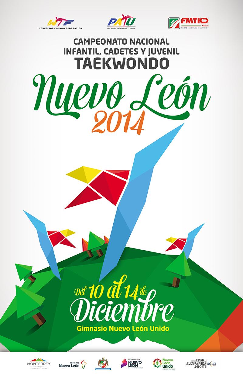 Poster campeonato nacional mexicano de Taekwondo