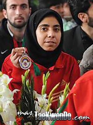 Laila Hossaini (AFG), Plata en Juegos de Asia del Sur en 2010
