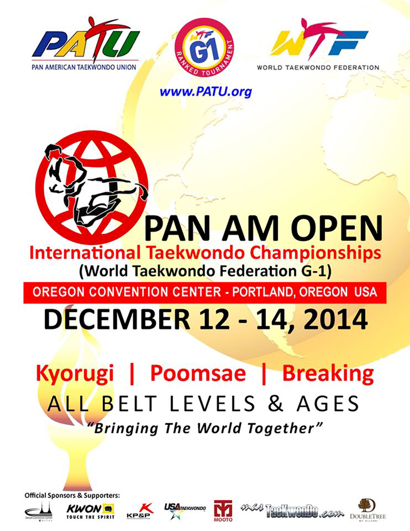 Poster Pan Am Open 2014, Oregon