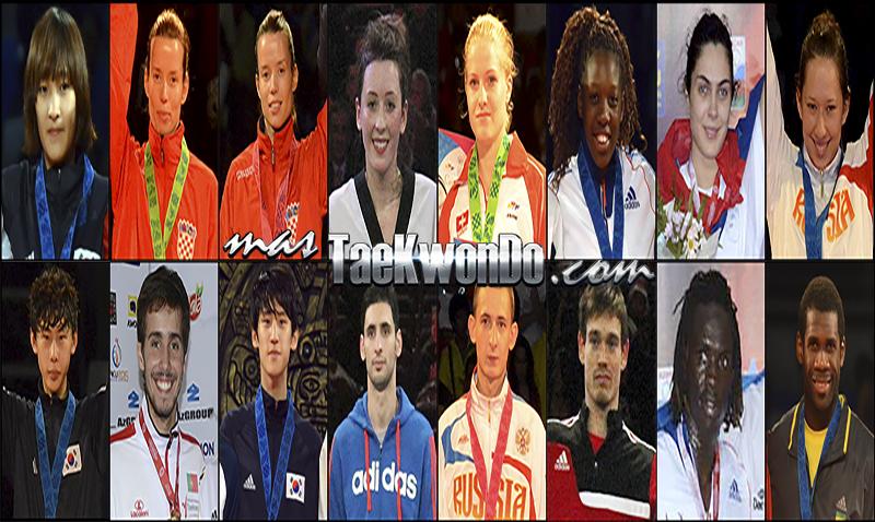 Números 1 – WTF World Ranking – Taekwondo WTF – Agosto 2014.