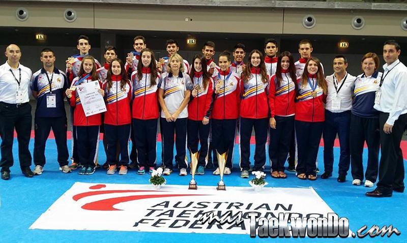 Equipo español de Taekwondo campeón europeo sub21 de Taekwondo