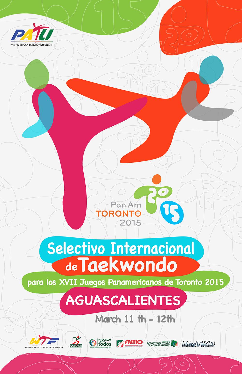 Cartel Selectivo de Taekwondo para Toronto 2015