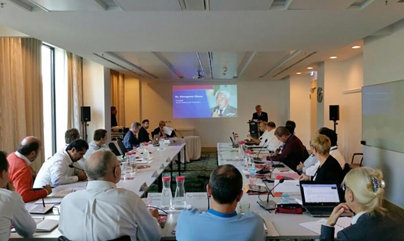 Dr. Chungwon Choue presento un avance sobre los avances realizados en el Para-Taekwondo frente al IPC.