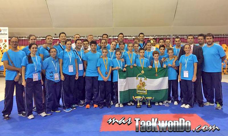 Equipo de taekwondo de Tecnica de la Federación de andalucia