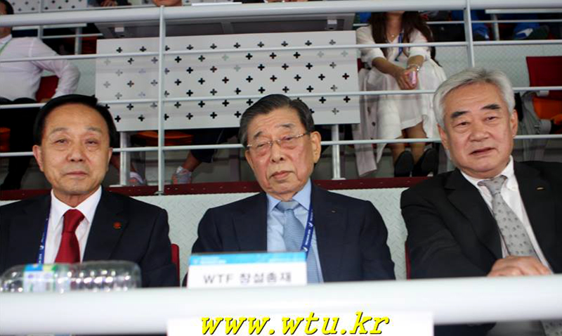 Un Yong Kim y Chungwon Choue en los Asian Games 2014