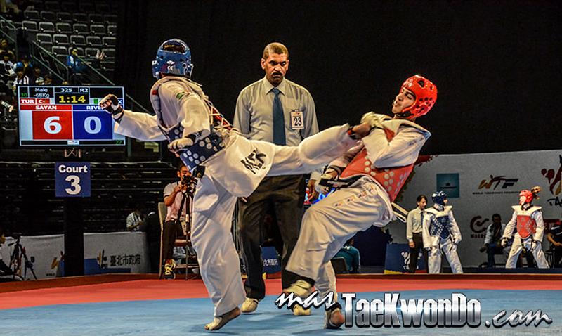 Tuit Chagui, patada de giro recto de taekwondo