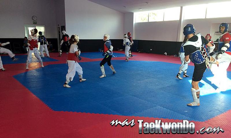 Combates de Taekwondo en el Club Ramos & Brigitte