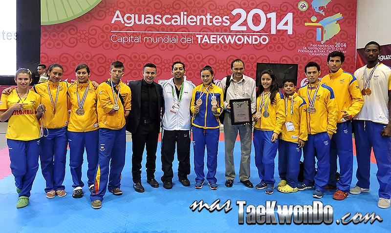 Medallistas colombianos en el Panamericano de Taekwondo 2014