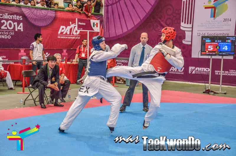 Lucas Guzmán en Panamericano de taekwondo 2014