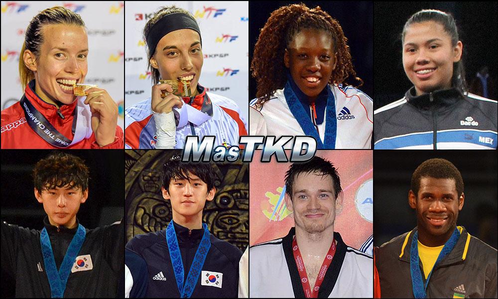 Números 1 – WTF World Olympic Ranking – Taekwondo WTF – Octubre 2014.