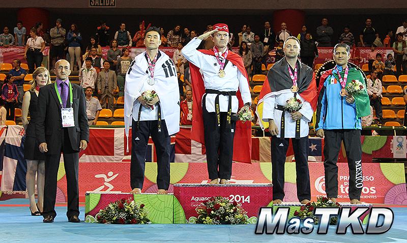 Podio Individual -50 Masculino. Mundial de Poomsae 2014