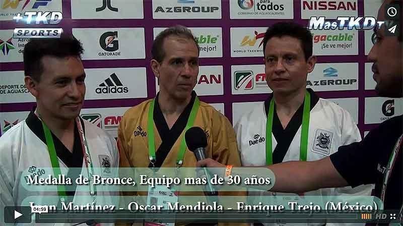 Juan, Enrique y Oscar, medallistas mexicanos