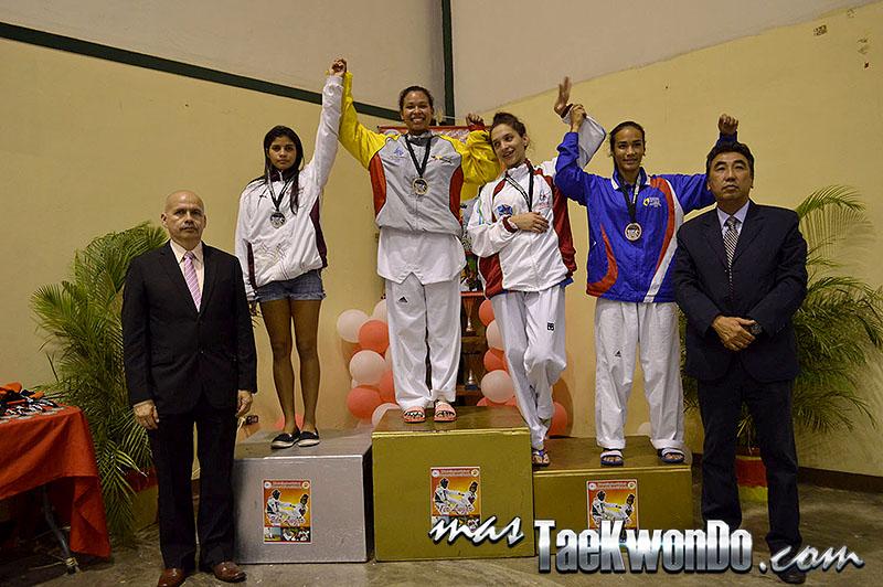 Podio F-57, II Válida Nacional Campeonato Absoluto de Taekwondo