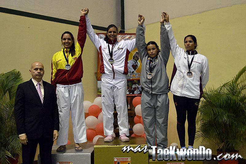 Podio F-62, II Válida Nacional Campeonato Absoluto de Taekwondo
