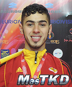 Jaouad Achab (Bélgica): 6to Ranking, Campeon Europeo, Baku 2014.