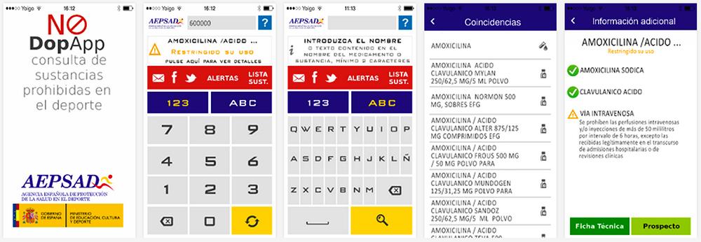 Captura de pantalla de la Aplicación No Dop App