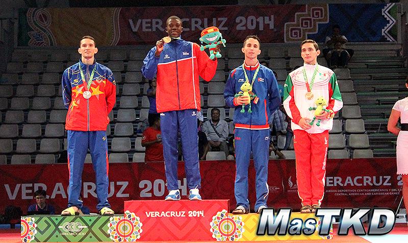 Podio Taekwondo en JCC Veracruz 2014 M-58 Kg.