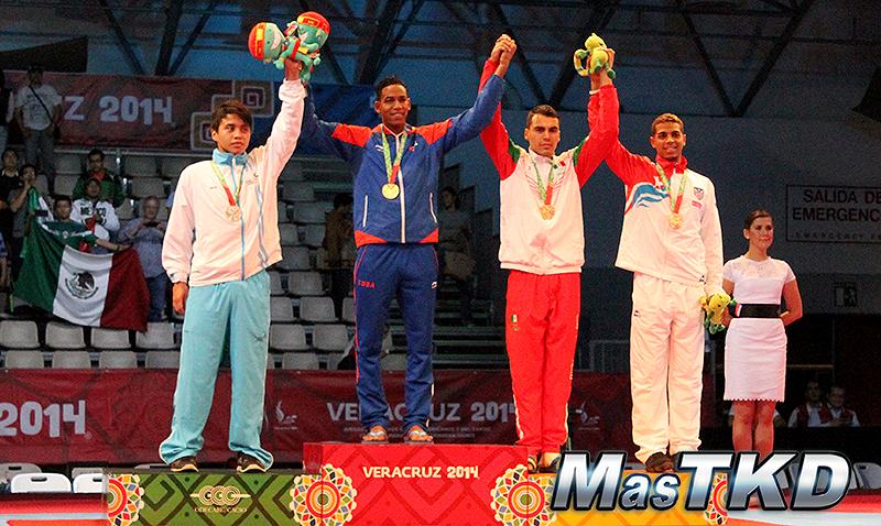 Podio Taekwondo en JCC Veracruz 2014 M-74 Kg.