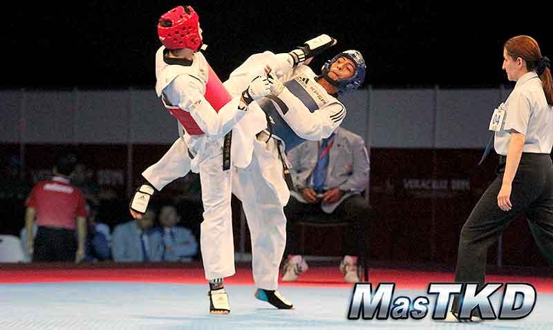 Taekwondo en los JCC Veracruz 2014 día 2