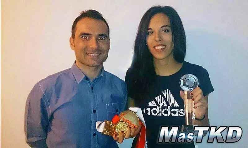 Jose María y Eva oros de los GPs
