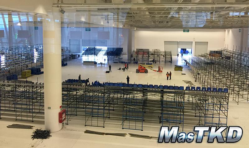Preparativos en el Querétaro Convention Center