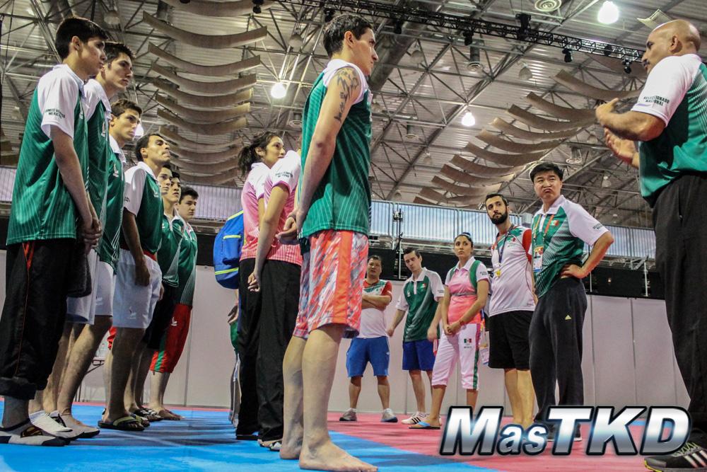 Equipo mexicano de Taekwondo en Veracruz 2014