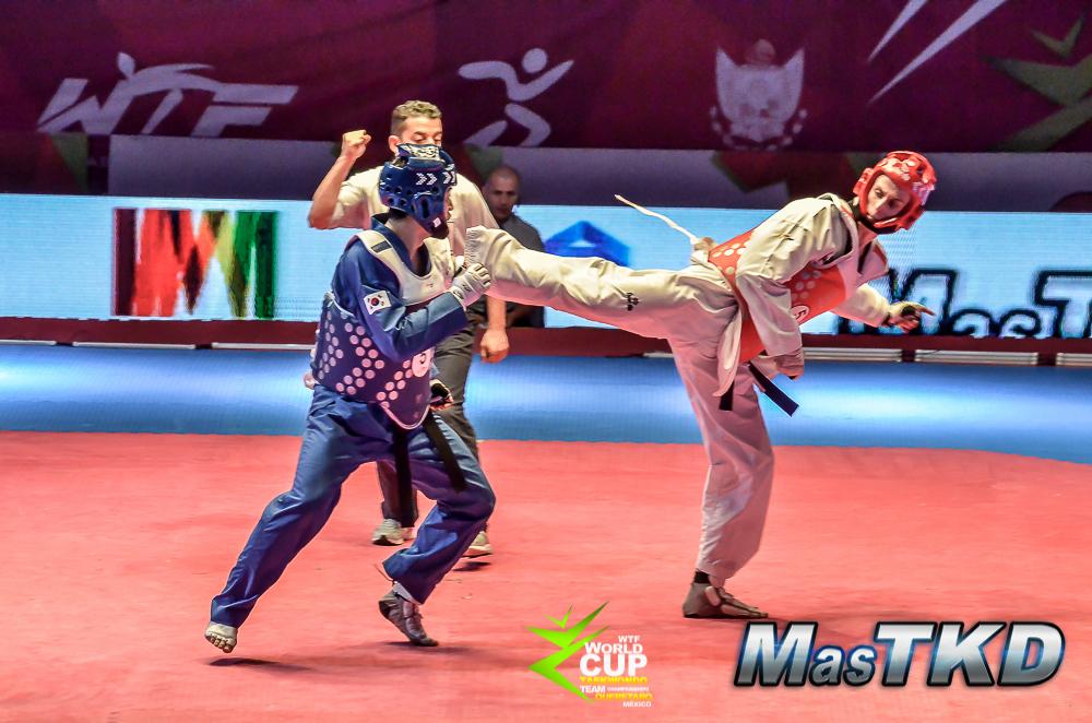 Corea del Sur vs. Rusia en la Copa del Mundo de Taekwondo