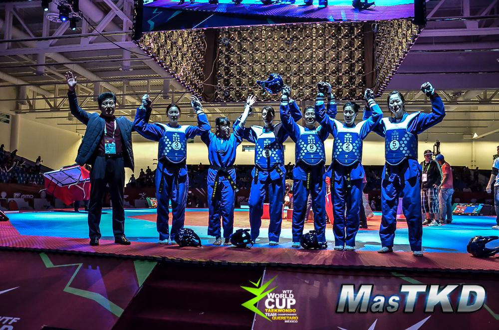 Corea del Sur campeon en femeninos de la Copa del Mundo por Equipos de Taekwondo