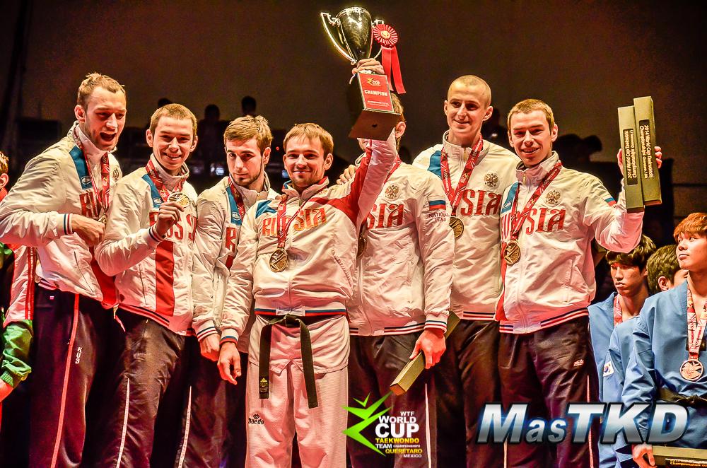 Rusia campeon en masculinos de la Copa del Mundo por Equipos de Taekwondo